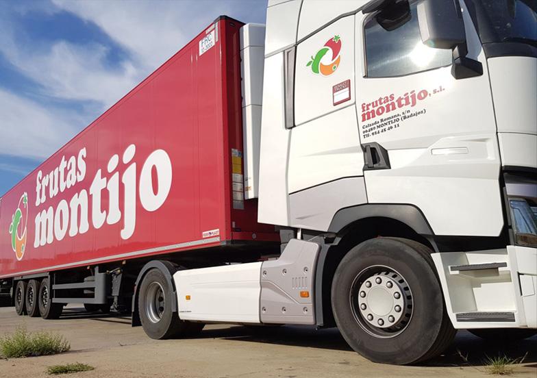 Camión con rutas de reparto